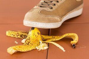 Plátano en el suelo