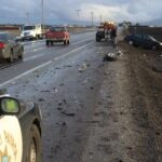 auto accident on California highway